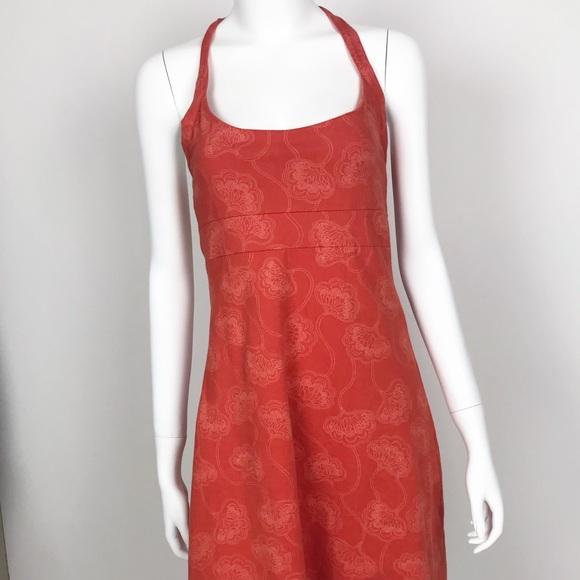 Patagonia Dresses & Skirts - Patagonia Halter Top Floral Orange Dress